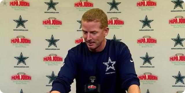 JASON GARRETT PRESS CONFERENCE - Dallas Cowboys head coach Jason Garrett - watch video - button Cowboys Saints - 2013-2014 Dallas Cowboys