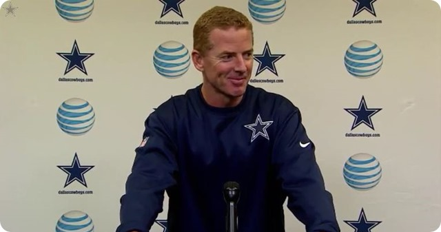 JASON GARRETT PRESS CONFERENCE - Dallas Cowboys head coach Jason Garrett - watch video - button Cowboys Giants - 2013-2014 Dallas Cowboys vs. New York Giants