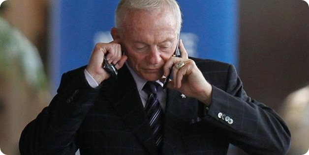 Jerry Jones, billionaire Dallas Cowboys owner, still uses flip phone - 1