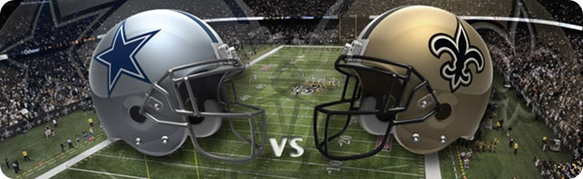 New Orleans Saints vs Dallas Cowboys - Dallas Cowboys 2013-2014 schedule - 2013-2014 Dallas Cowboys - NFL helmets - Button