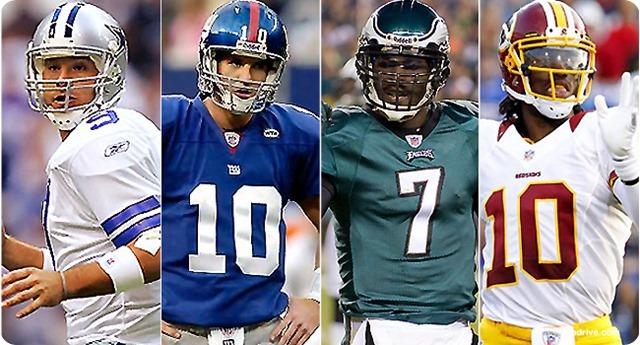 NFC East - NFC East starting quarterbacks - button - 2013 Dallas Cowboys