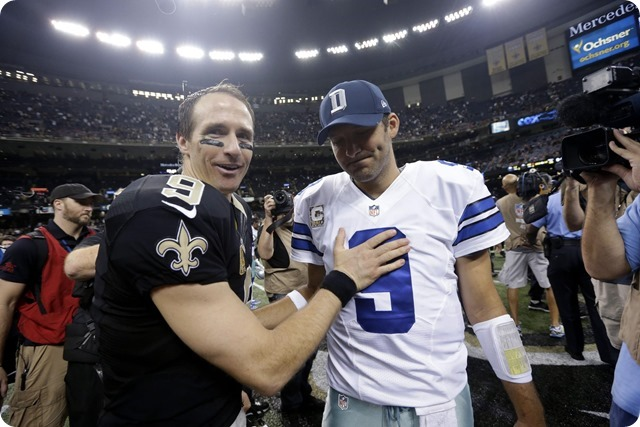 SOUL SEARCHING IN THE BIG EASY - New Orleans Saints dominate Dallas Cowboys in Primetime - Drew Brees and Tony Romo