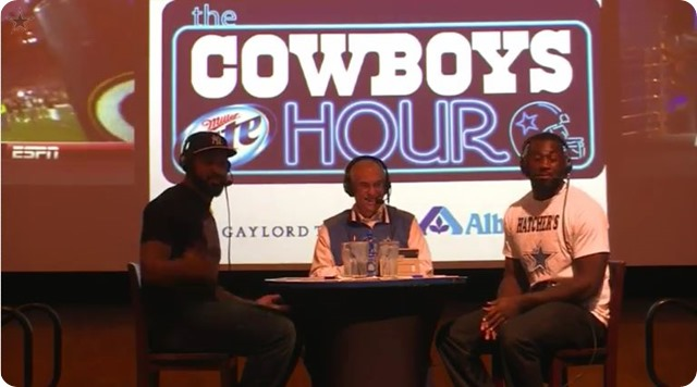 The Cowboys Hour with Brad Sham - 2013-2014 Dallas Cowboys - Dallas Cowboys Jason Hatcher George Selvie with Dallas Cowboys Radio Network host Brad Sham