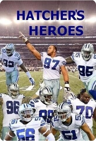 The Cowboys Hour with Brad Sham - 2013-2014 Dallas Cowboys Jason Hatcher George Selvie with Dallas Cowboys Radio Network host Brad Sham - Hatcher's Heros poster