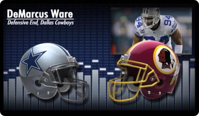 Audio - DeMarcus Ware press conference with Washington Redskins media - 2013-2014 Dallas Cowboys schedule - Dallas Cowboys at Washington Redskins