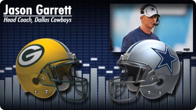 Audio - Jason Garrett press conference with Green Bay Packers media - 2013-2014 Dallas Cowboys schedule