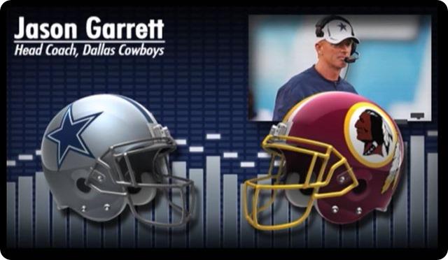 Audio - Jason Garrett press conference with Washington Redskins media - 2013-2014 Dallas Cowboys schedule - Dallas Cowboys at Washington Redskins