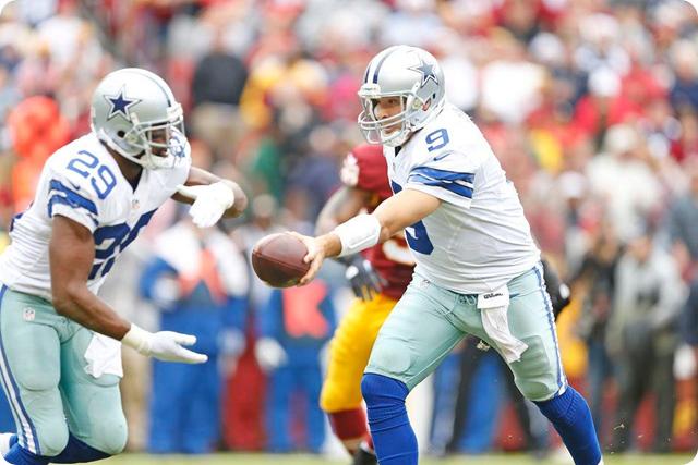 COWBOYS REDSKINS POSTGAME GUTCHECK - Dallas Cowboys fight to keep their 2013-2014 season alive - Tony Romo handoff to DeMarco Murray vs. Washington Redskins