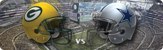 Dallas Cowboys vs. Green Bay Packers - Dallas Cowboys 2013-2014 schedule - 2013-2014 Dallas Cowboys - NFL helmets - Button - Dallas Cowboys schedule 2013 2014