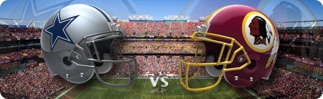 Dallas Cowboys vs. Washington Redskins - Dallas Cowboys 2013-2014 schedule - 2013-2014 Dallas Cowboys - NFL helmets - Button - Dallas Cowboys schedule 2013 2014