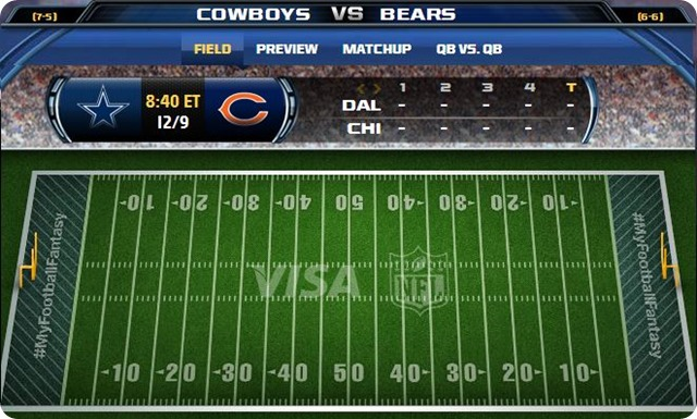 gametrax - dallas cowboys vs. chicago bears - 2013-2014 Dallas Cowboys schedule - button - bears cowboys - cowboys bears 2013 2014