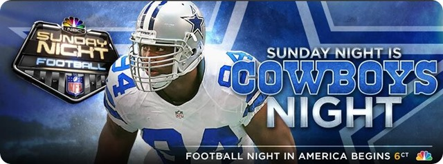 nbc sunday night football - SNF - Sunday night is Cowboys night - button