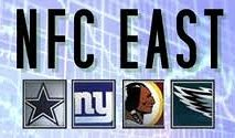NFL's NFC East Division - Cowboys Giants Eagles Redskins