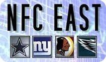 NFC East - Dallas Cowboys New York Giants Washington Redskins Philadelphia Eagles