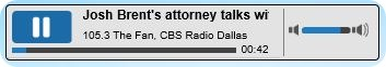 Audio - Josh Brent attorney Kevin Brooks - 1053 the fan krld - The Boys Are Back 2014