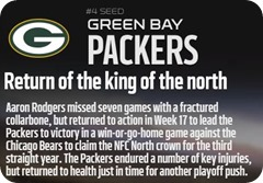 GAMEDAY RESOURCES - Green Bay Packers - 2013 2014 NFL Playoffs 2013 2014 Wildcard Weekend
