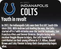 GAMEDAY RESOURCES - Indianapolis Colts - 2013 2014 NFL Playoffs 2013 2014 Wildcard Weekend