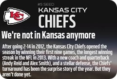 GAMEDAY RESOURCES - Kansas City Chiefs - 2013 2014 NFL Playoffs 2013 2014 Wildcard Weekend