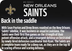 GAMEDAY RESOURCES - New Orleans Saints - 2013 2014 NFL Playoffs 2013 2014 Wildcard Weekend