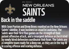 GAMEDAY RESOURCES - New Orleans Saints - 2013 2014 NFL Playoffs 2013 2014 Wildcard Weekend