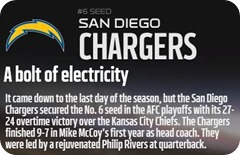 GAMEDAY RESOURCES - San Diego Chargers - 2013 2014 NFL Playoffs 2013 2014 Wildcard Weekend