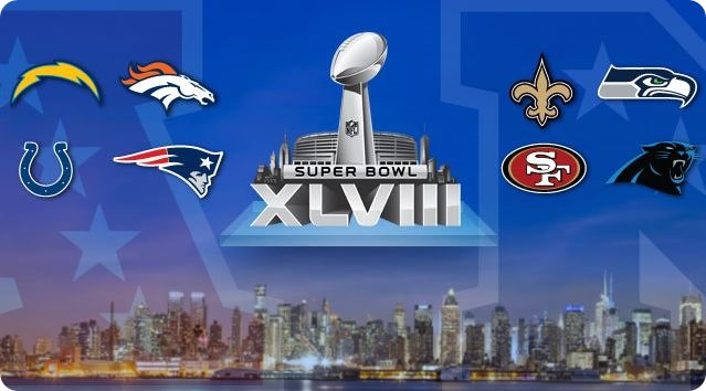 GAMEDAY RESOURCES - Superbowl XLVIII - Super Bowl 48 - Super Bowl 2013 2014 - 8 teams
