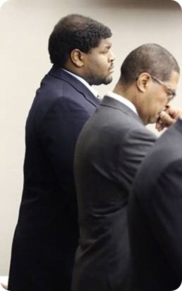 GETTING BACK ON THE SADDLE - What's next - Josh Brent stands with lawyer Kevin Brooks while his punishment for his intoxication manslaughter conviction is read in court