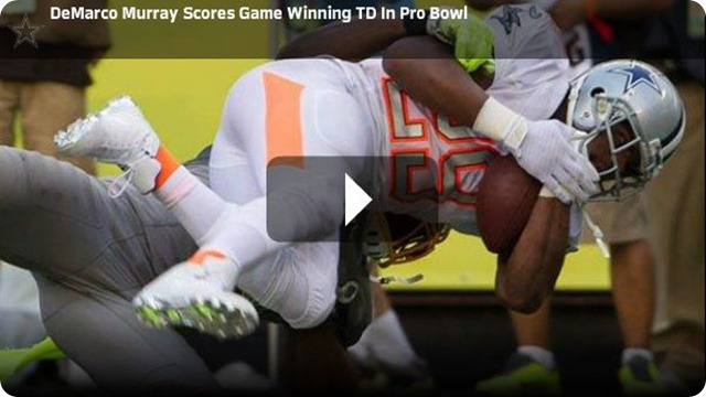 NEW NFL ALL-STAR GAME - DeMarco Murray's late TD lifts Team Jerry Rice to 2014 NFL Pro Bowl win - Watch Video