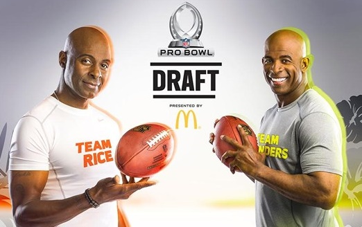 NFL Pro Bowl 2014 - New NFL All-Star draft - New NFL Pro Bowl draft 2014 - 2014 NFL Pro Bowl Draft - Team Sanders - Team Rice