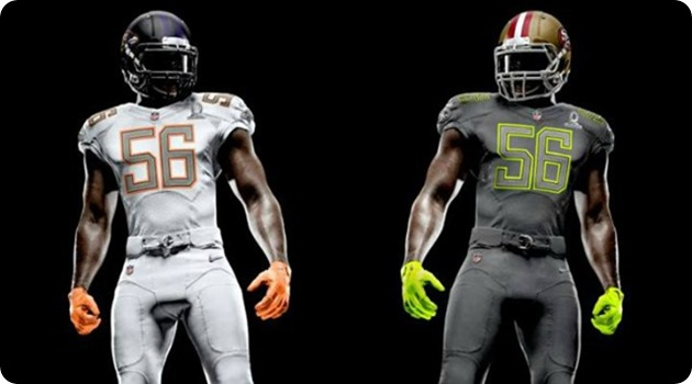 NFL Pro Bowl 2014 - New NFL Pro Bowl All-Star game - New NFL Pro Bowl 2014 uniforms on NFL Network - 2014 NFL Pro Bowl Draft - Team Sanders - Team Rice