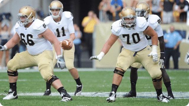 Notre Dame offensive lineman Zack Martin (70) - 2014 Senior Bowl - NFL Draft 2014