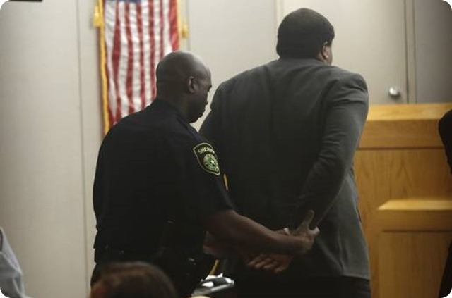 The five biggest revelations in trial of ex-Cowboy Josh Brent - 7 - Josh Brent is found guilty of intoxicated manslaughter and put into handcuffs at Crowley Criminal Courts Building in Dallas