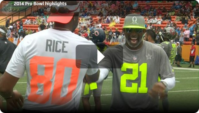 VIDEO - 2013 2014 NFL PRO BOWL 2013 2014 - New NFL Pro Bowl 2014 - Team Rice Team Sanders