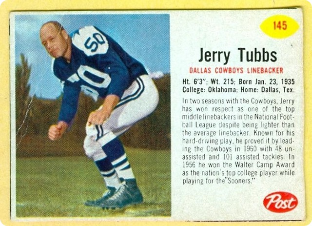 The newly-formed Dallas Cowboys selected Jerry Tubbs and 35 other players in the 1960 expansion draft - The Boys Are Back blog