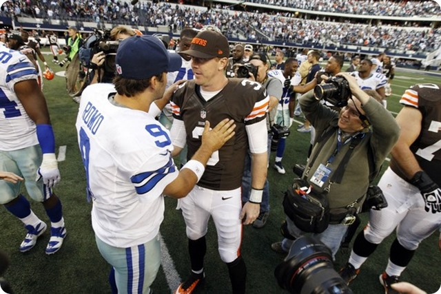CLEARING OUT THE WEEDS - New Cowboys QB Brandon Weeden appreciates the fresh start from Believeland to Big D - Tony Romo