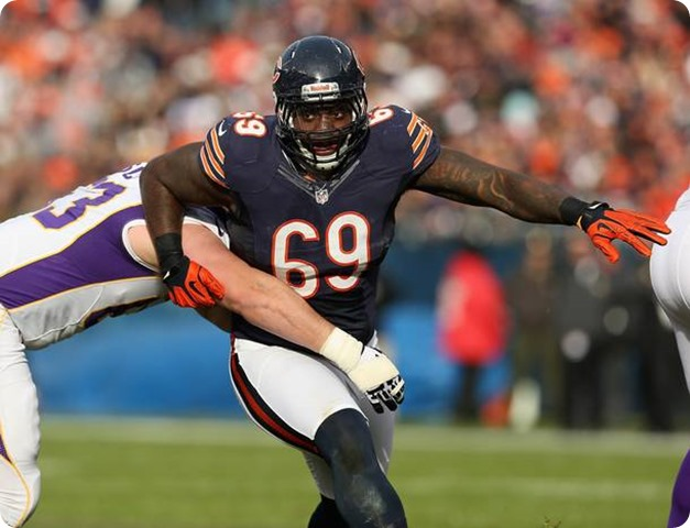Defensive tackle Henry Melton #69 of the Chicago Bears