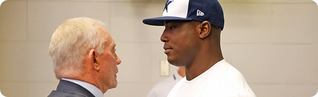 DESTINED FOR THE RING OF HONOR - Right or wrong, releasing DeMarcus Ware had to be difficult - Special feature - DeMarcus Ware Jerry Jones - The Boys Are Back website 2014