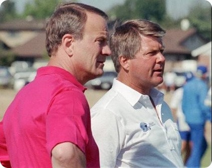 former dallas cowboys coach jimmy johnson and barry switzer - the boys are back blog