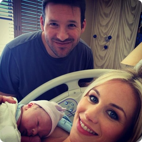 IT'S ANOTHER (COW)BOY - Dallas Cowboys QB Tony Romo and wife Candice have second son, Rivers Romo first picture - The Boys Are Back website 2014