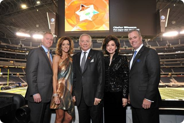 jerry jr., charlotte, jerry, gene and stephen jones at cowboys stadium - the boys are back blog