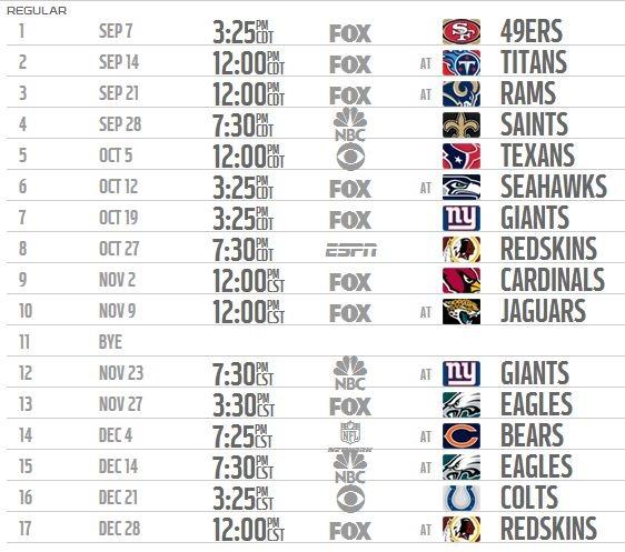Permalink to Dallas Cowboys 2015 Schedule