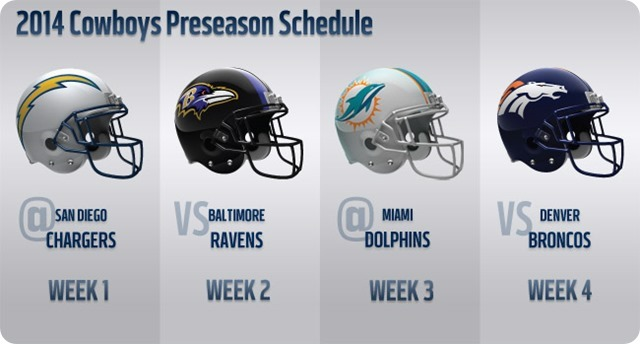 2014 Dallas Cowboys Preseason Schedule 2014 - The Boys Are Back website