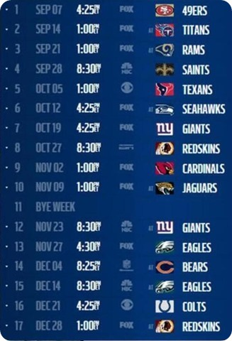 2014 Dallas Cowboys schedule - Dallas Cowboys 2014 schedule - Dallas Cowboys schedule 2014 2015 - The Boys Are Back website 2014 2015