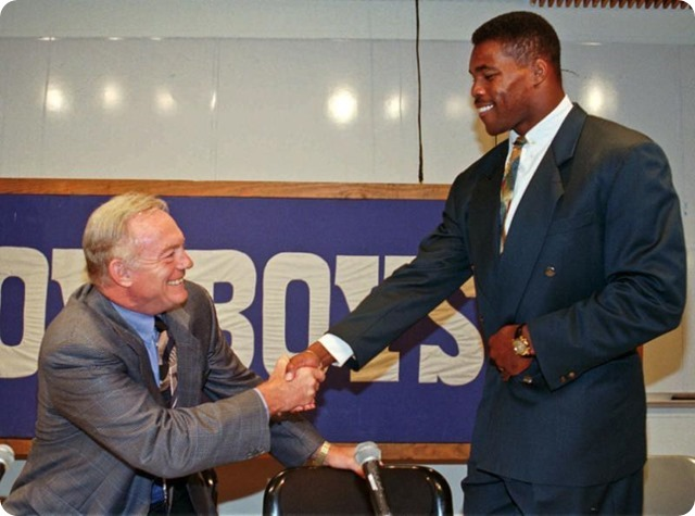 Herschel Walker and Jerry Jones