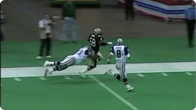 HOF Dallas Cowboys OG Larry Allen chases down linebacker - The Boys Are Back blog 2013