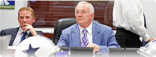 NFL Draft - Dallas Cowboys war room - Jerry Jones and Jason Garrett - The Boys Are Back blog 2013