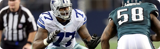 2014-2015 ROSTER UPDATE - Dallas Cowboys exercise fifth-year option for LT Tyron Smith - Free Agent wide receiver LaRon Byrd signed