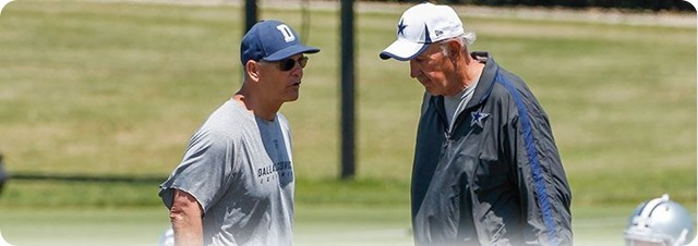 CHANGING OF THE GUARD - Monte Kiffin knows Rod Marinelli can give the defensive the jolt it needs - 2014 Dallas Cowboys coaching staff