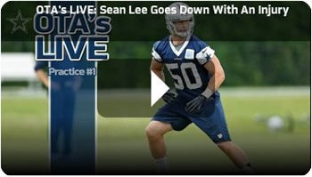COWBOY STAR SEASON SIDELINED - Sean Lee suffers 2014 season-ending ACL tear in left knee - Dallas Cowboys locker room reaction - Watch Videos