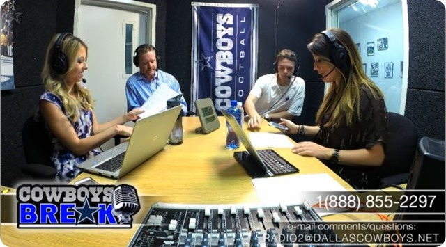 Cowboys Break with Nick Eatman, Derek Eagleton, Ed Cahill, and Kelsey Charles - The Boys Are Back blog website - Button